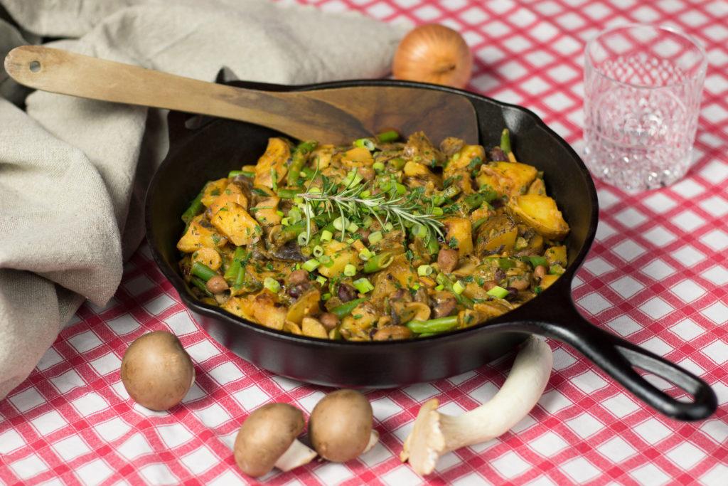 Schnelle und leckere Kartoffel-Pilzpfanne 3