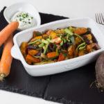 Kürbis-Ofengemüse mit Kartoffeln und Wurzelgemüse