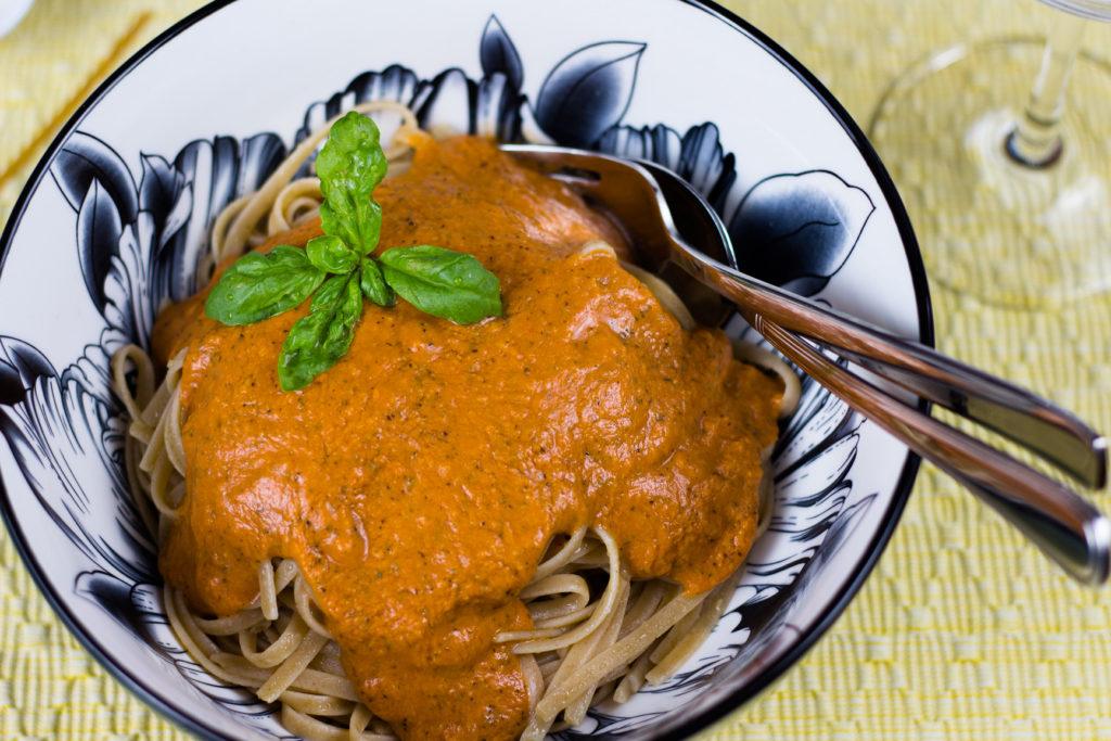 schnelle vegane Tomatensoße