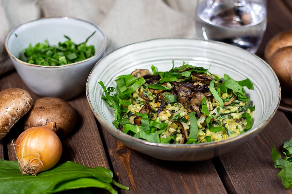 Veganes Bärlauchrisotto mit Kokosmilch