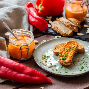 Vegane Paprika-Butter mit Cashews 1