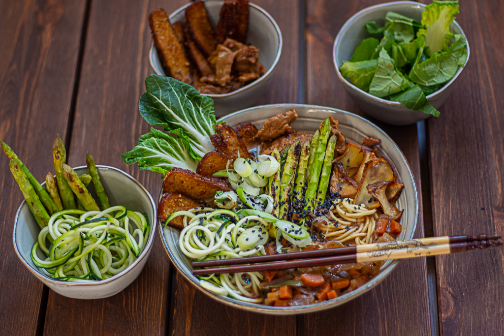 Toppings für vegane Ramen