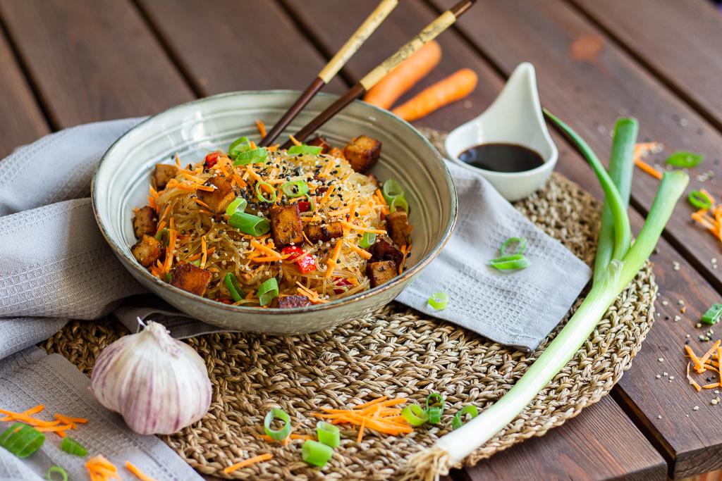veganer Glasnudelsalat schnell und einfach
