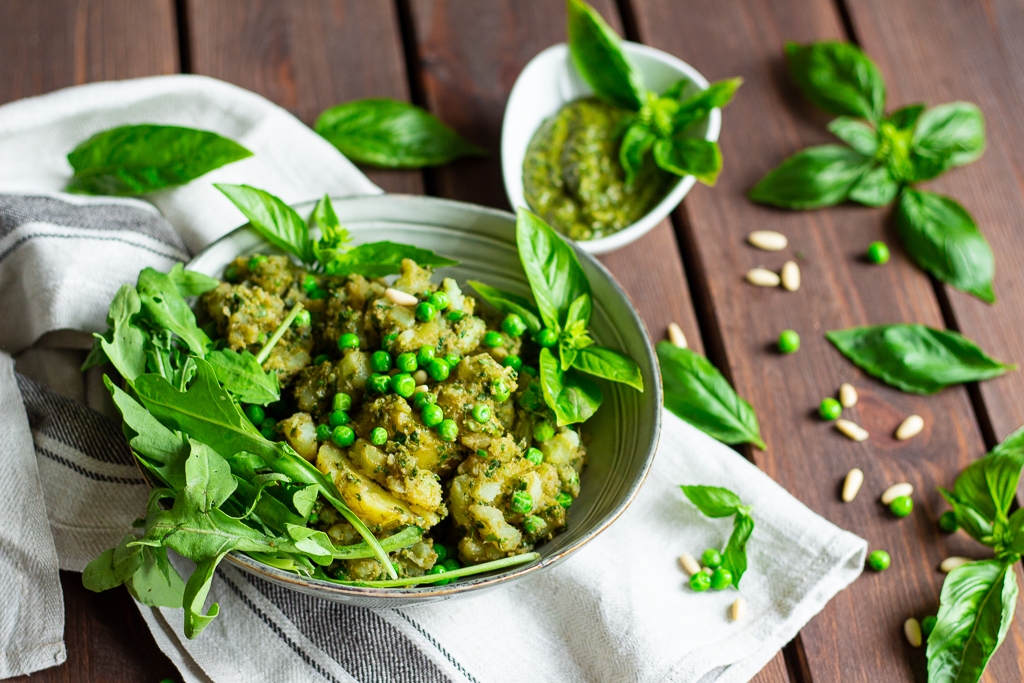 Am leckersten dazu: selbstgemachtes Pesto im Kartoffel-Pestosalat