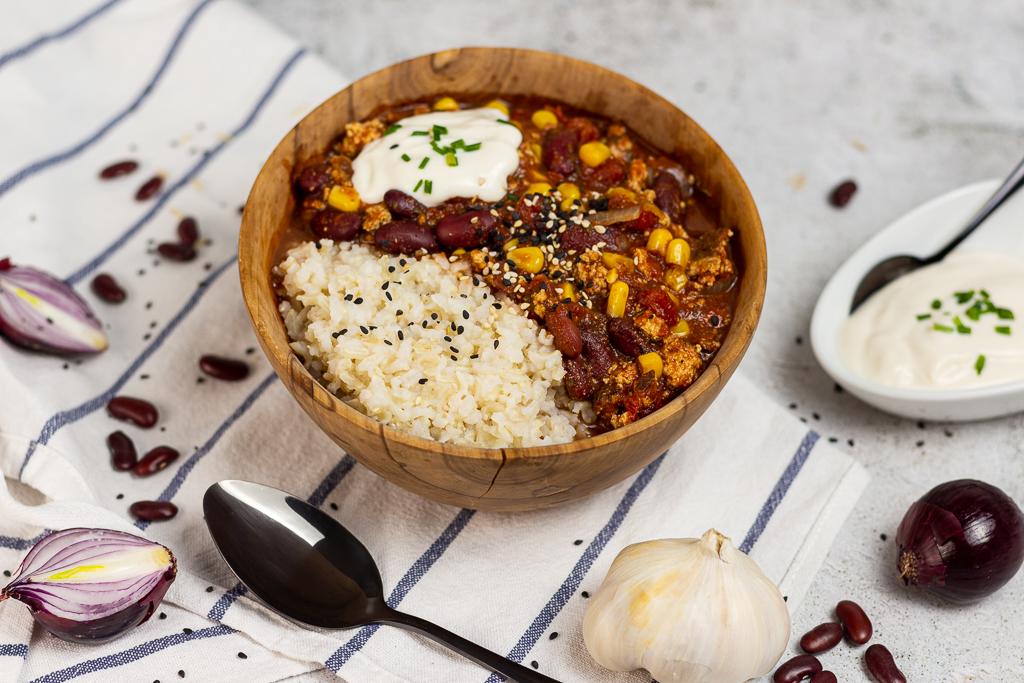 Leckeres Chili Sin Carne mit Räuchertofu