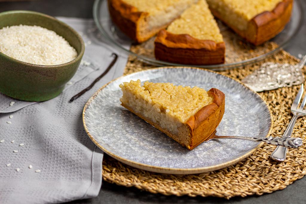 Veganer belgischer Reisfladen – die Käsekuchenalternative