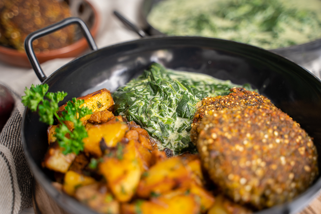 Spinat kochen leichtgemacht - mein Rezept für selbstgemachten veganen Rahmspinat
